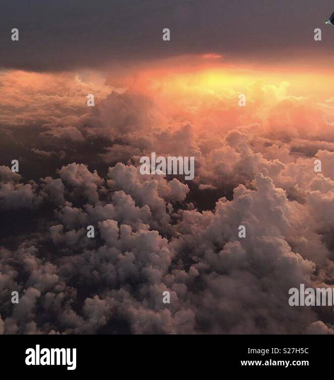 View from my Airplane Window - Stock Image