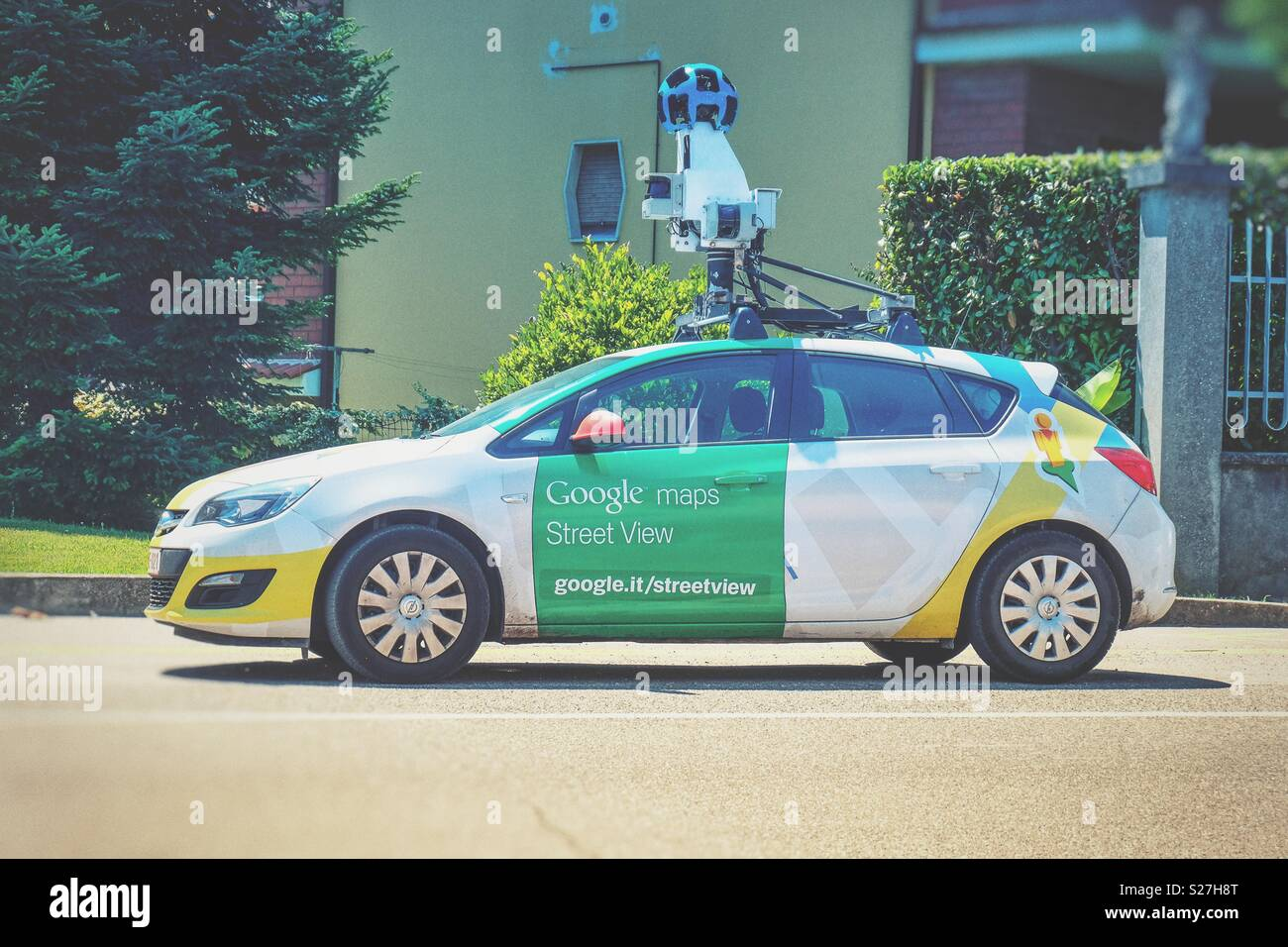Google mapping car and camera for streetview 360 apps and maps Stock