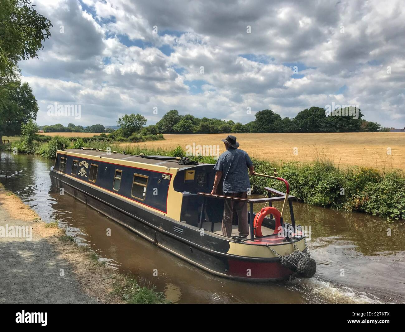 Canal Boating in Shropshire - Stock Image