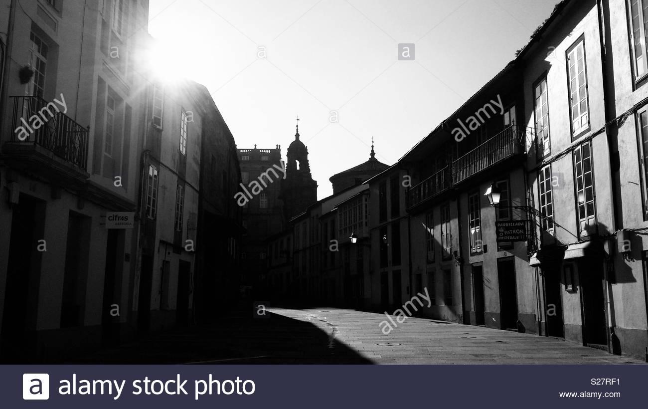 Santiago de Compostela at dawn - Stock Image