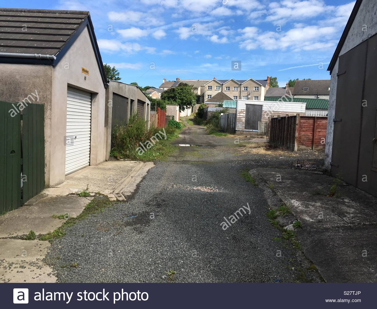 Lanes and Doorways - Stock Image