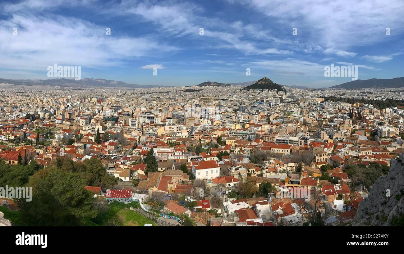 City scape, Athens arial view - Stock Image