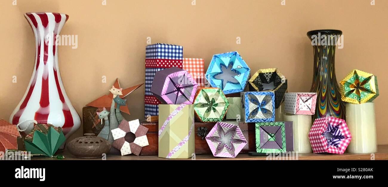Gift box jumble - Stock Image