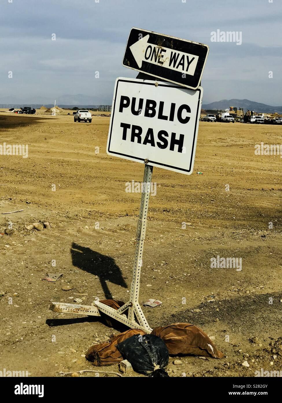 Trash is treasure. - Stock Image