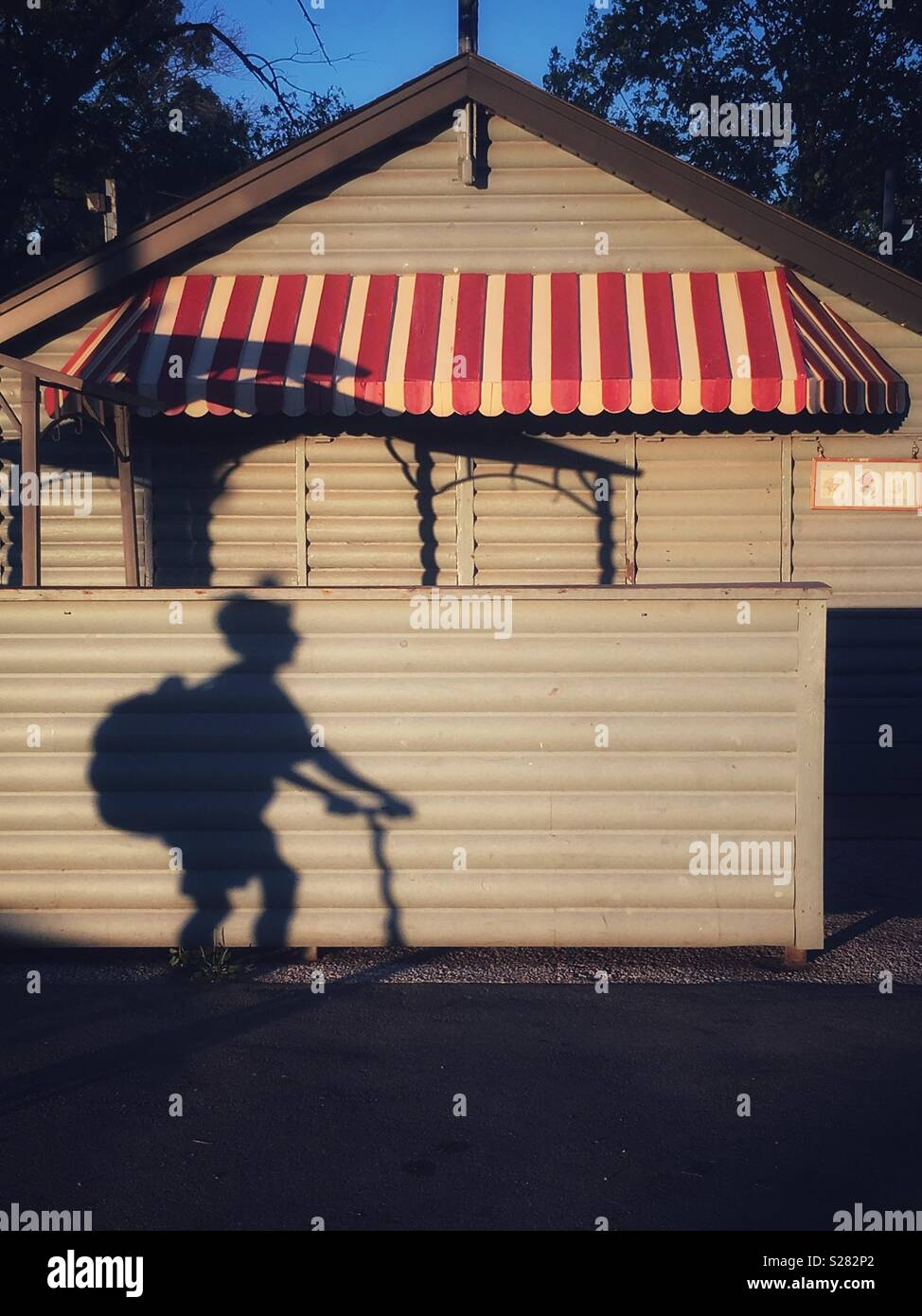 Summer shadow of yesteryear - Stock Image
