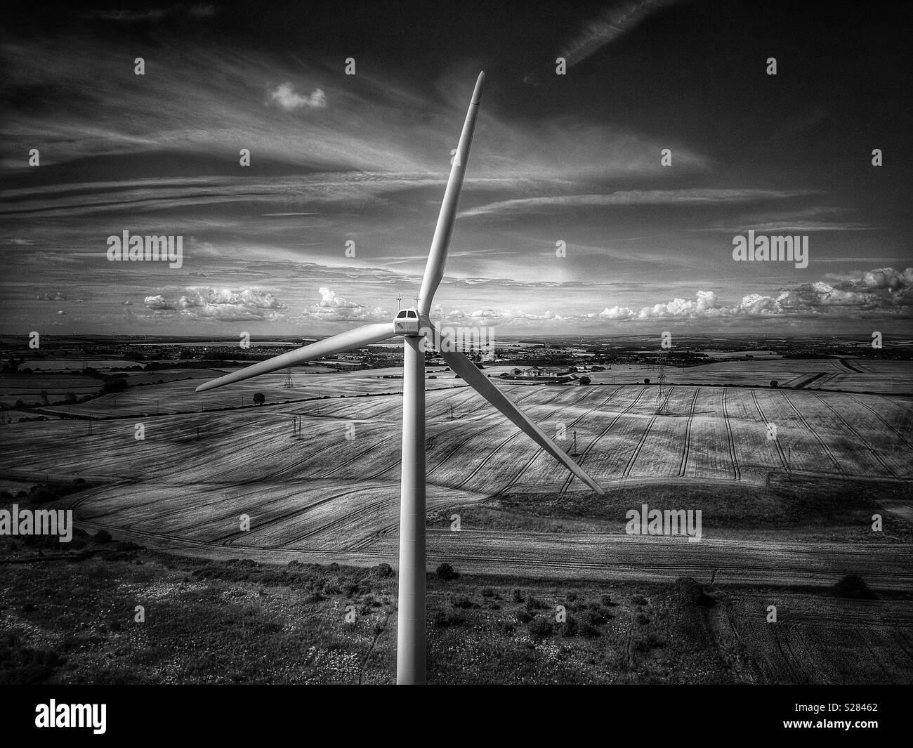 Wind turbine farm seaham county durham - Stock Image