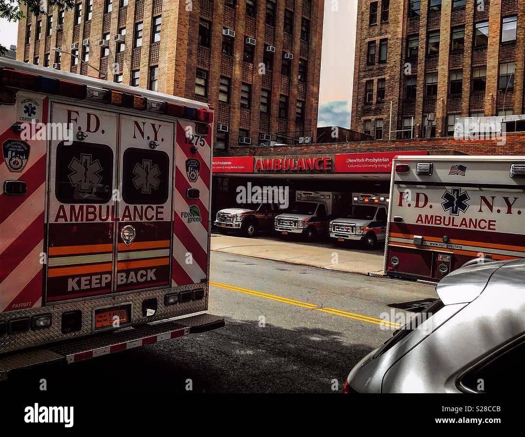FDNY Ambulances at New York Presbyterian Columbia Hospital  I used