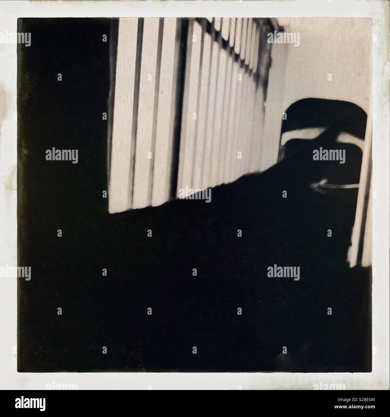 Balcony shadows - Stock Image