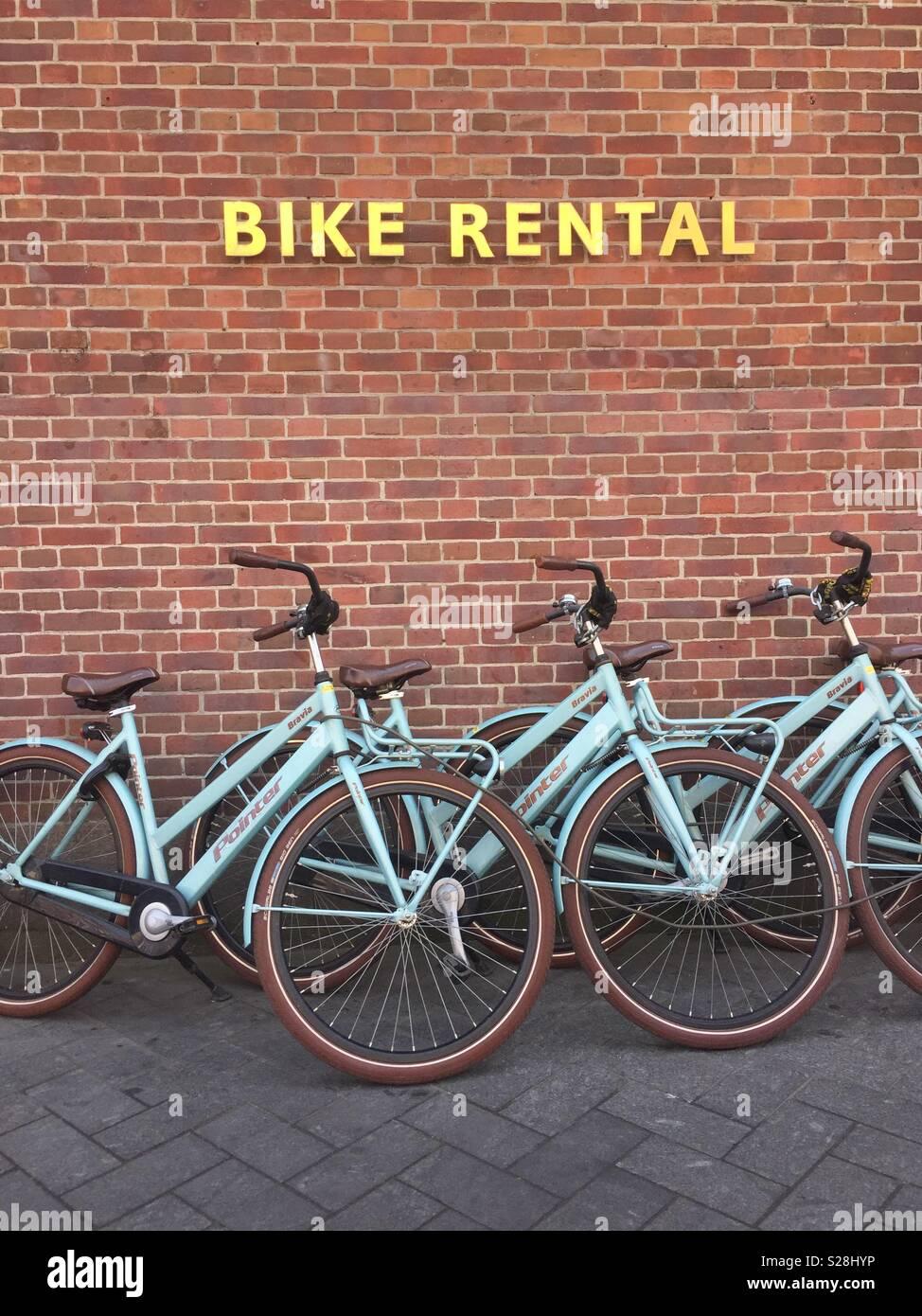 Amsterdam bike rental - Stock Image