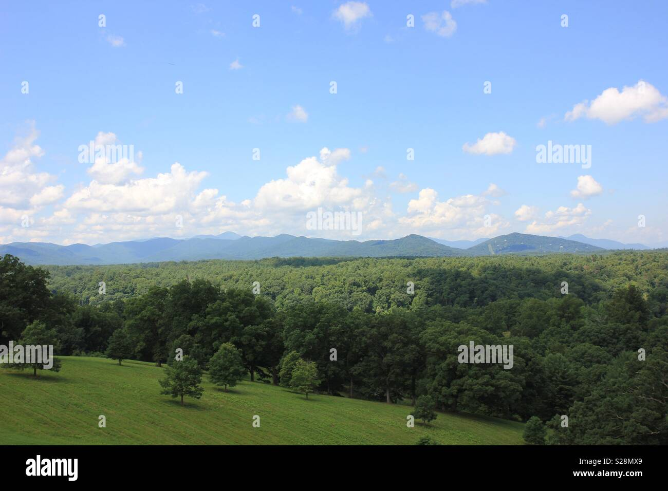 Mountains in Asheville, NC - Stock Image