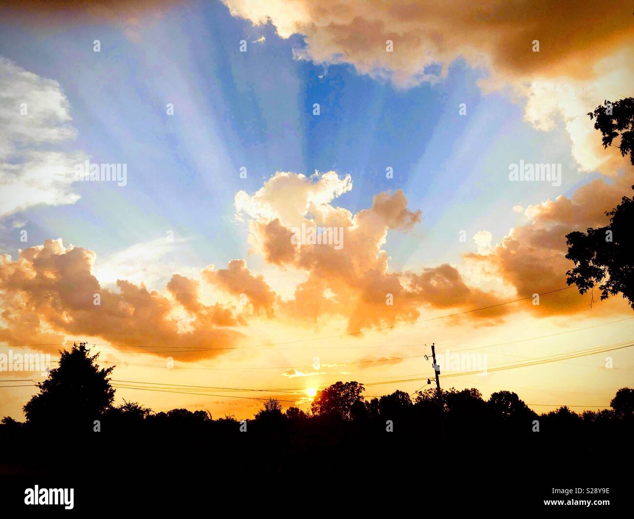 Glorious sunrise - Stock Image