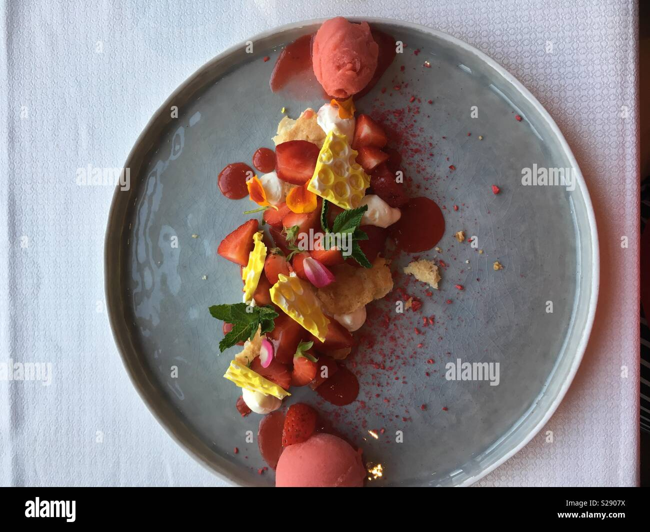 Too pretty to eat? - Stock Image