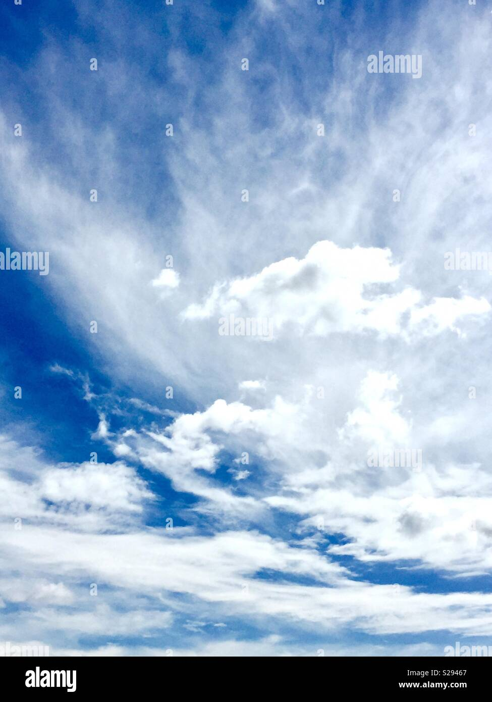 Unusual cloud formation - Stock Image