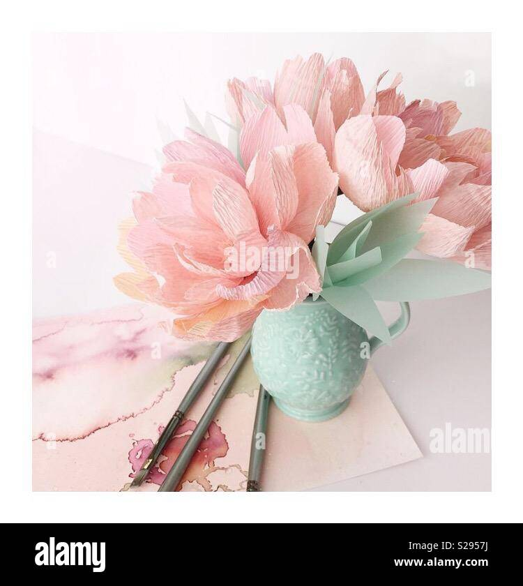 Soft Pinks And Green Blues In A Beautifully Styled Watercolor