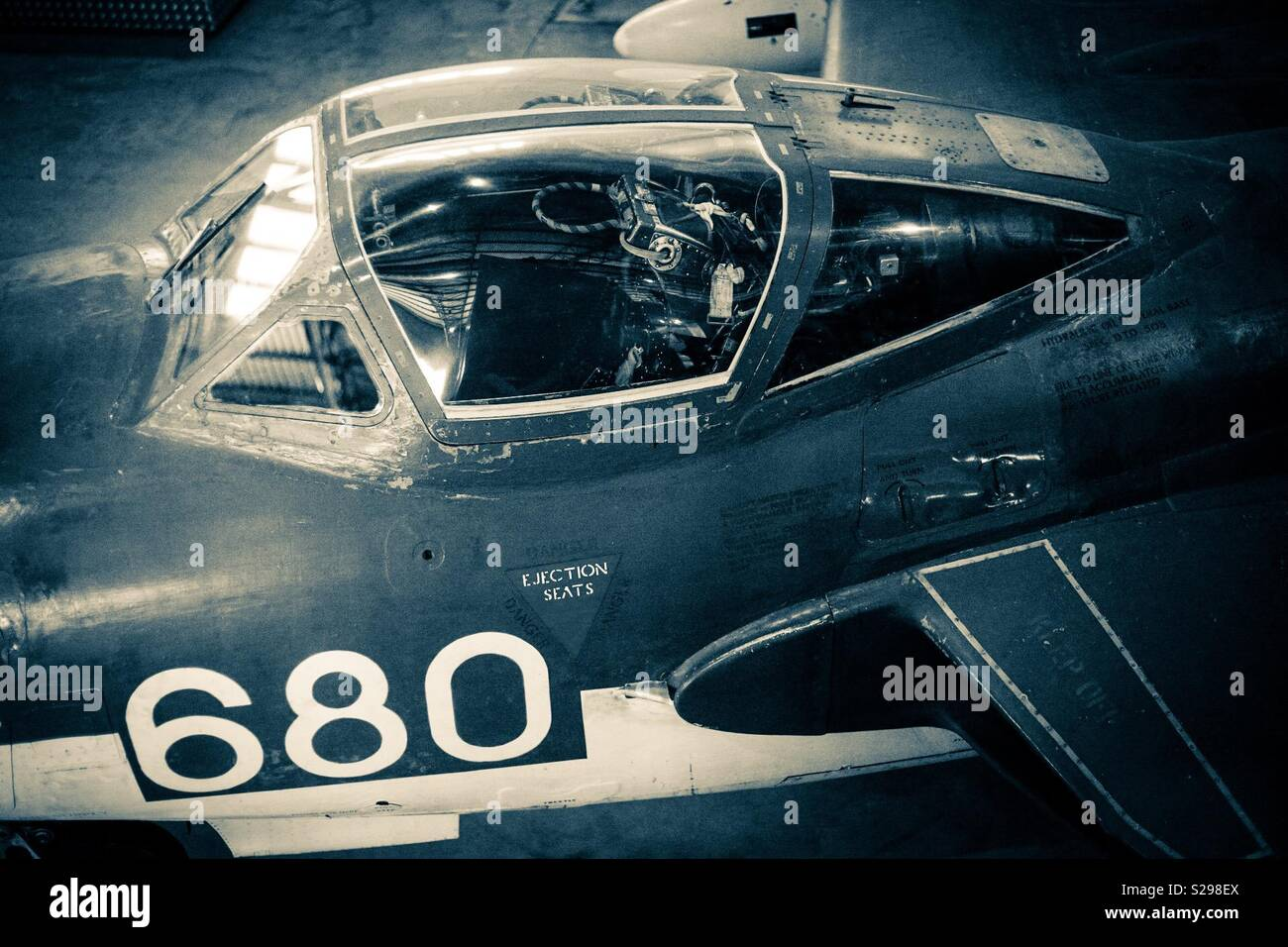 Classic fighter jet Stock Photo