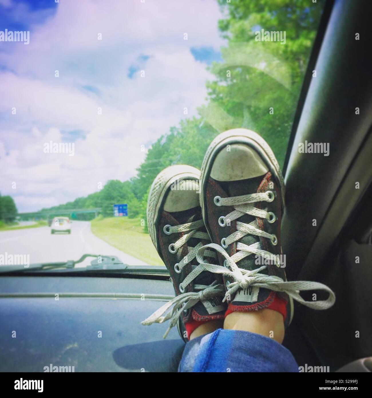 Road trip chuck life Stock Photo