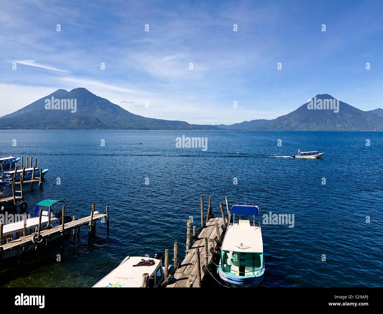 Lake Atitlan at Panajachel, Guatemala - Stock Image