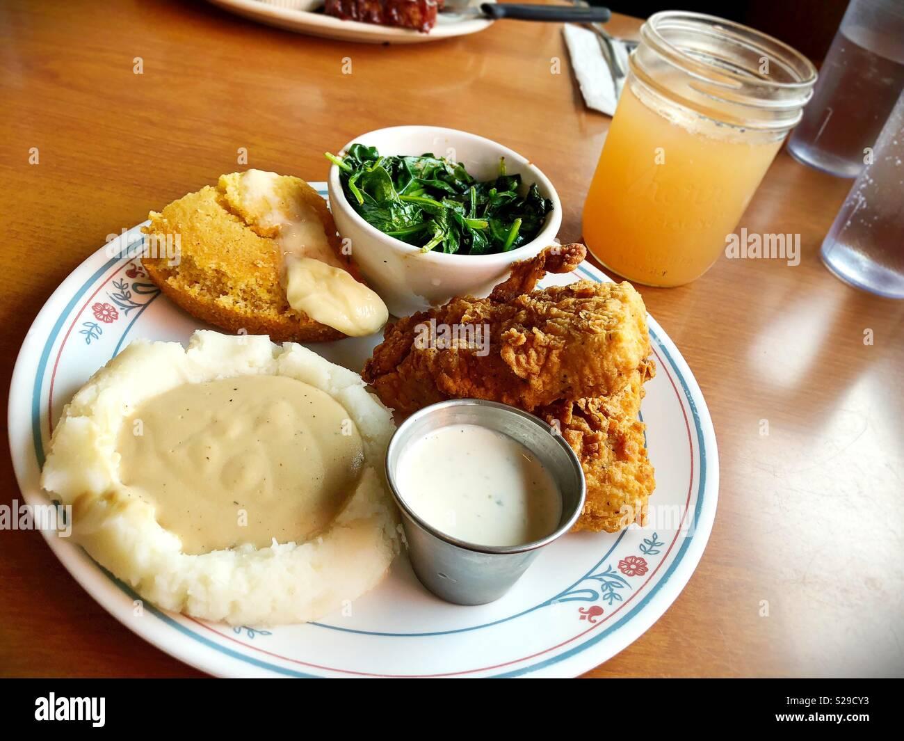 A Plate Of Vegan Comfort Food At Cornbread Cafe In Eugene Oregon