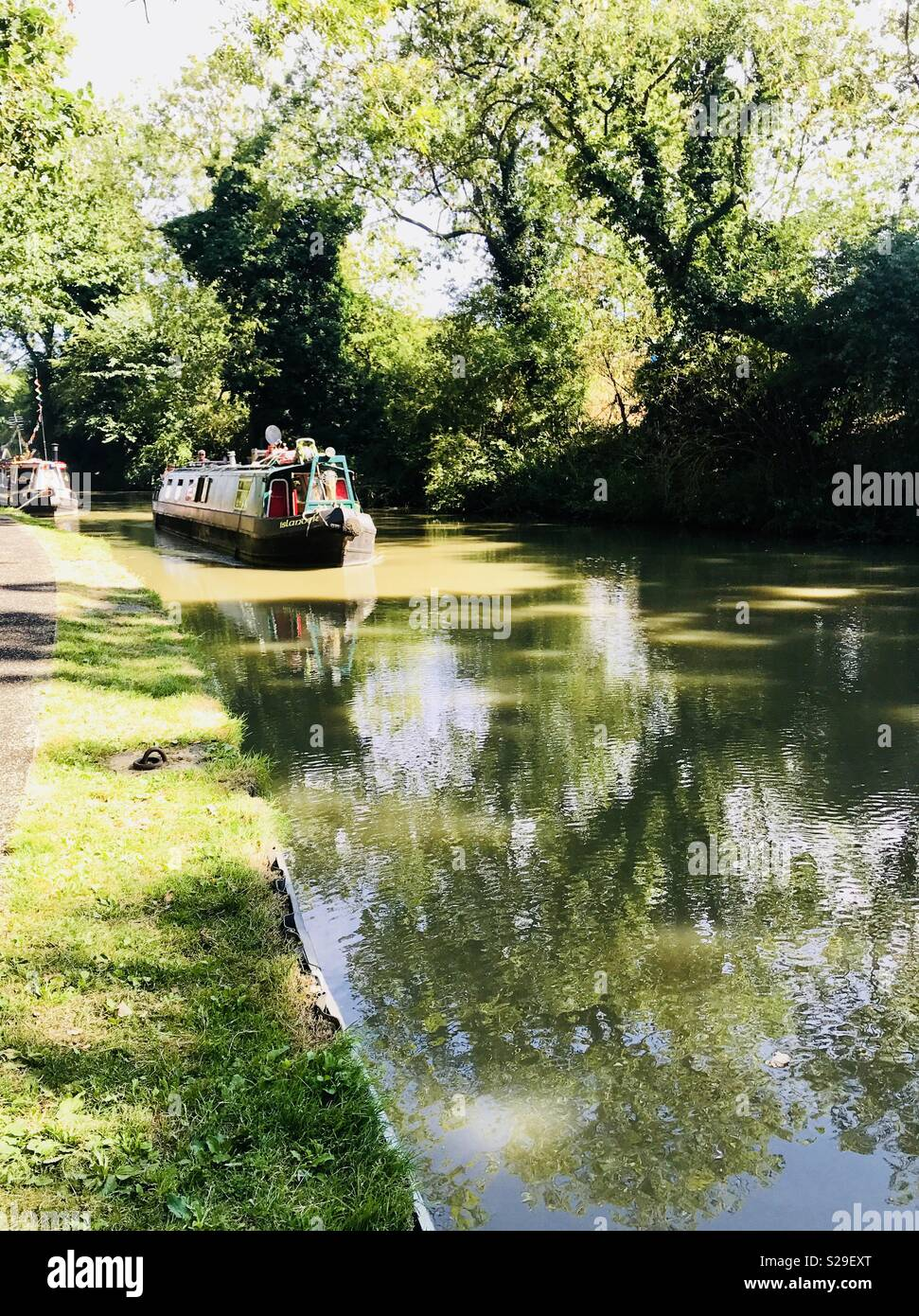 Grand Union canal near Stoke Bruerne, Northamptonshire, U.K. - Stock Image