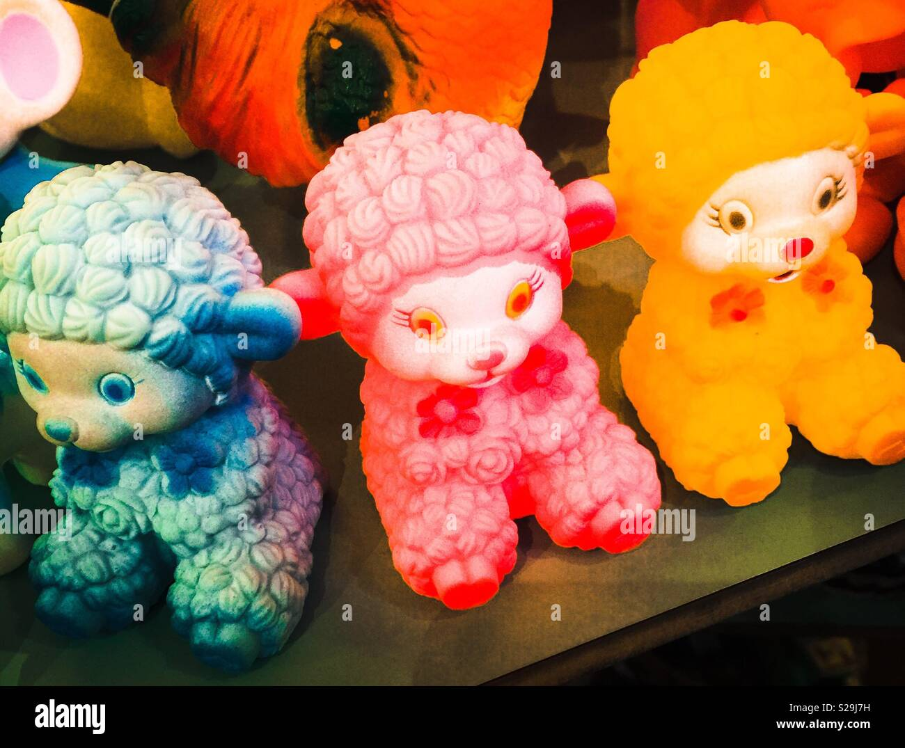 Kitsch vintage sheep - Stock Image