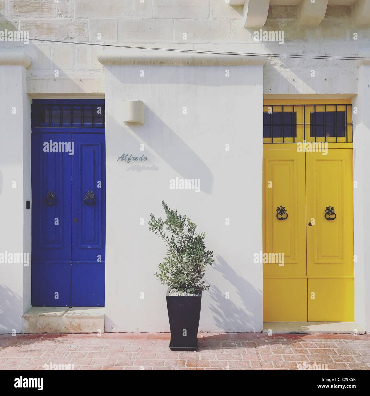 Marsaxlokk Homes - Malta Stock Photo