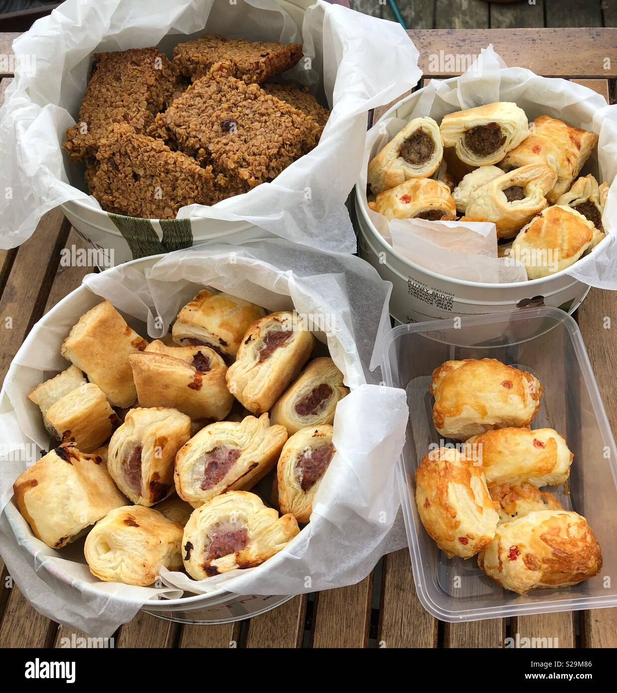 Home cooking ready for the bakesale - Stock Image