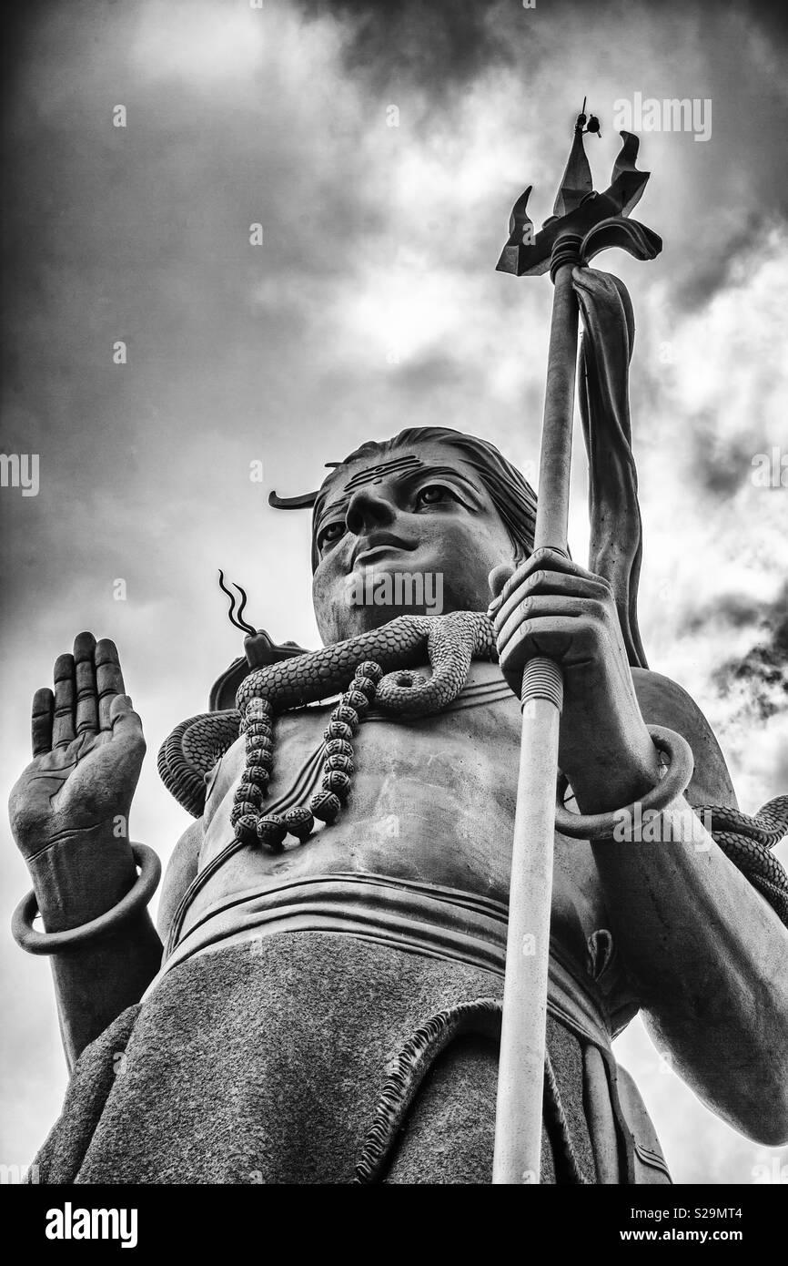 Shiva statue in Mauritius Ganga Talao - Stock Image