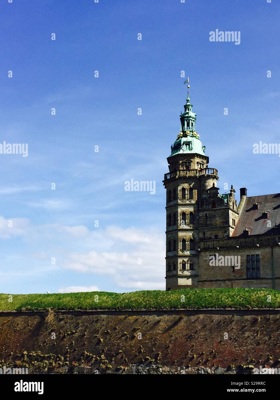 A view of Kronborg Castle in Denmark - Stock Image