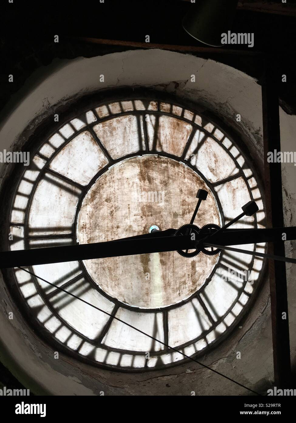 Inside a clock tower - Stock Image