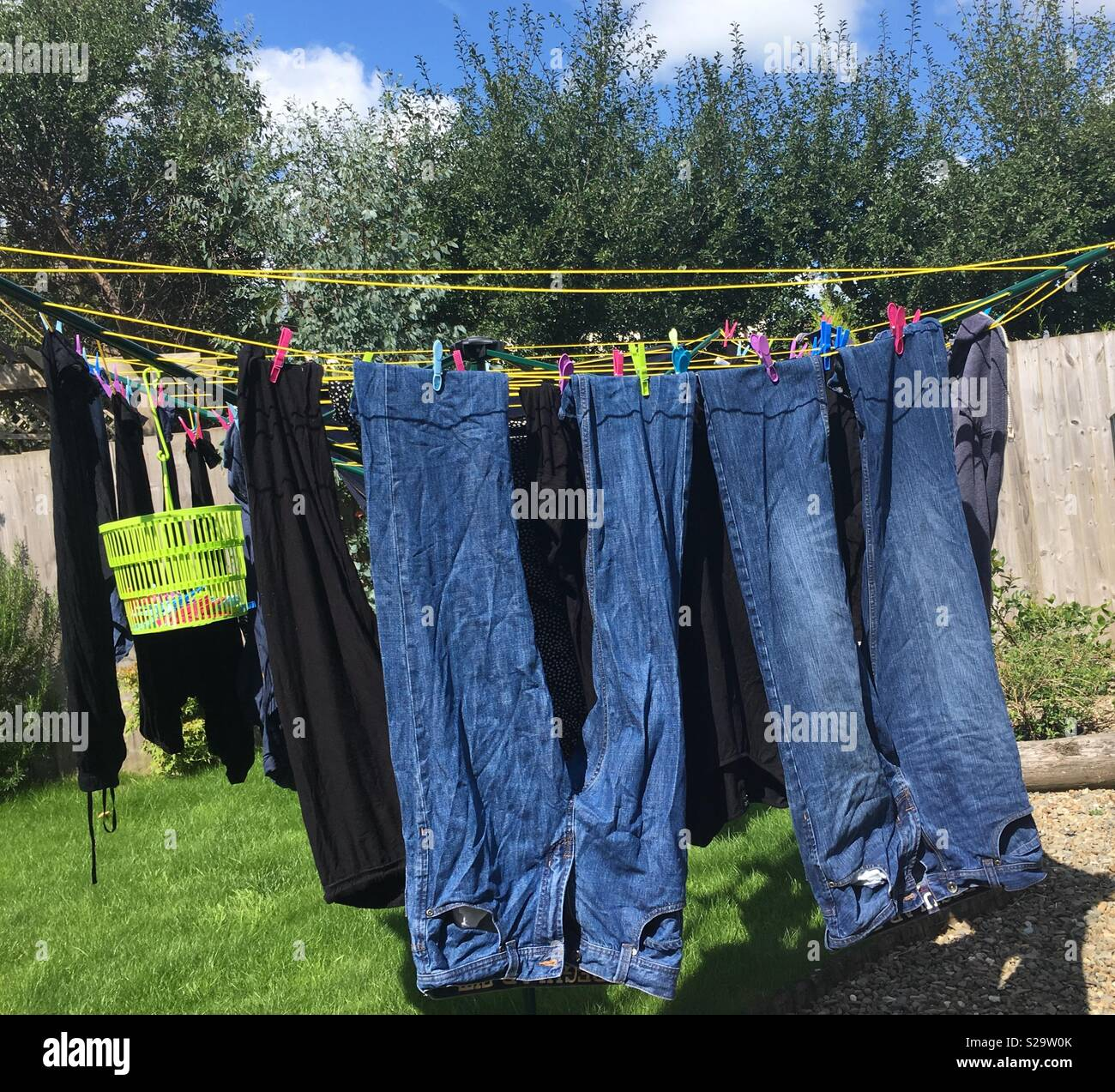 rotary clothes line stock photos rotary clothes line. Black Bedroom Furniture Sets. Home Design Ideas