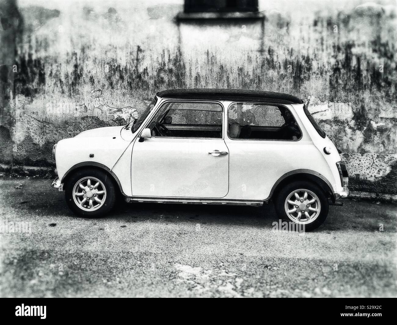 Mini Cooper car side view - Stock Image