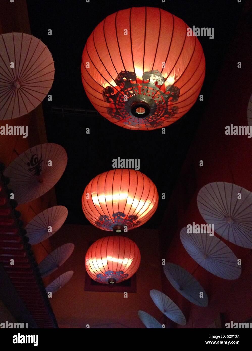 Chinese Lantern Lights Stock Photo Alamy