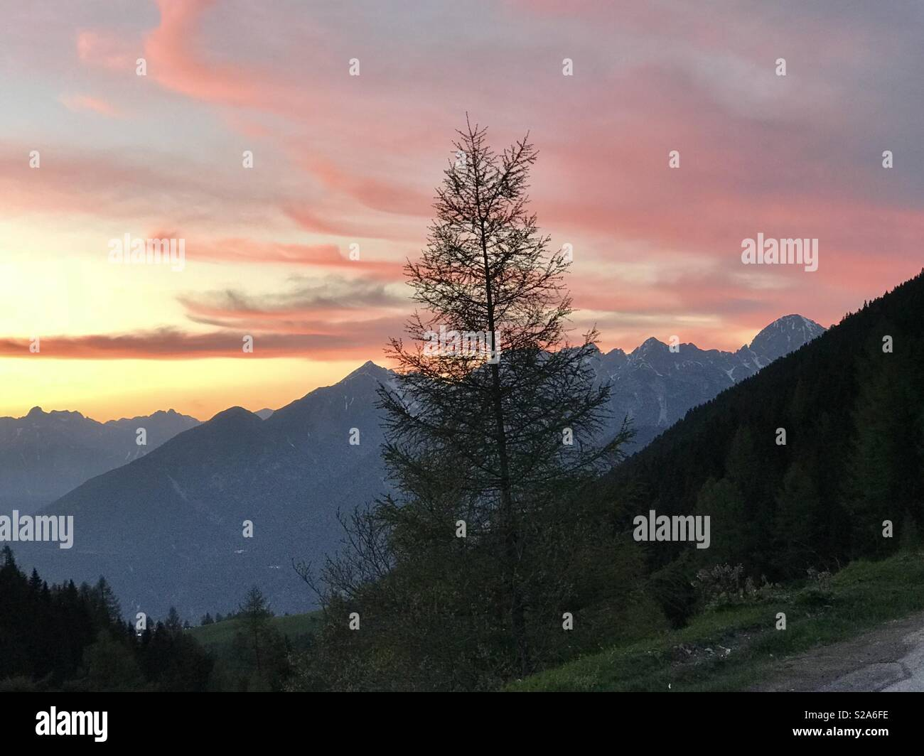 An evening in Innsbruck - Stock Image