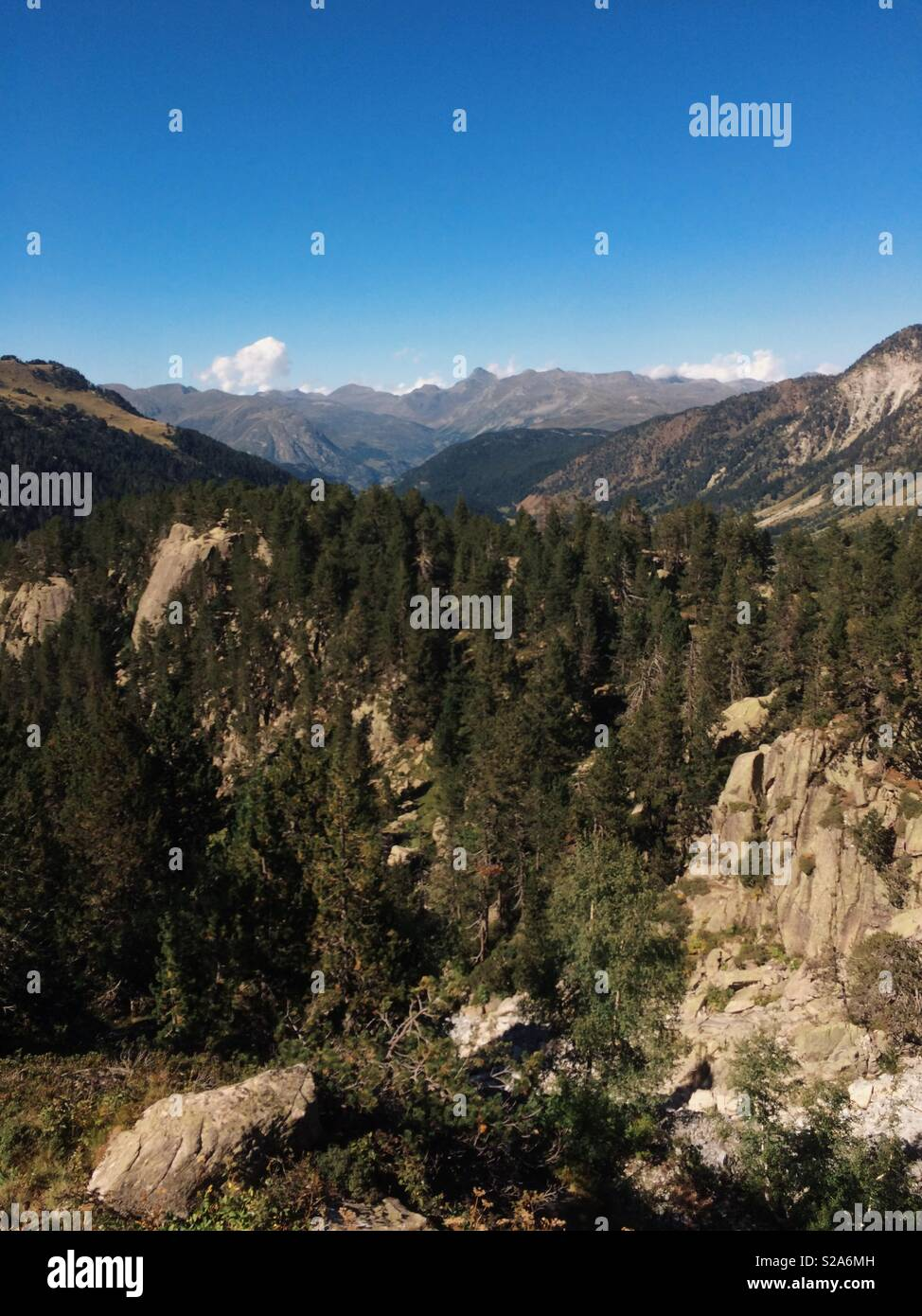 Mountainsides in Pyrenees - Stock Image