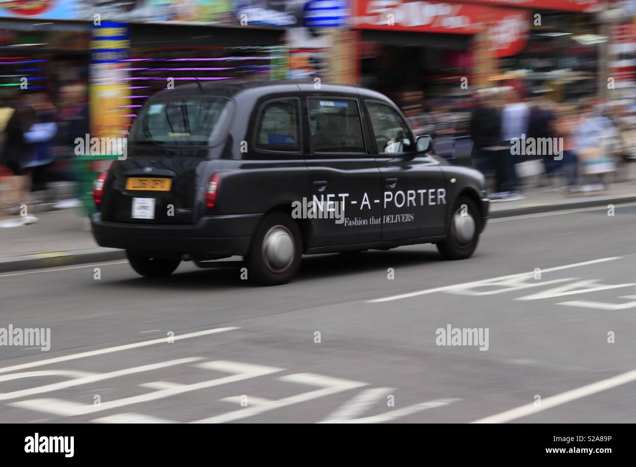 Black Cab Stock Photo