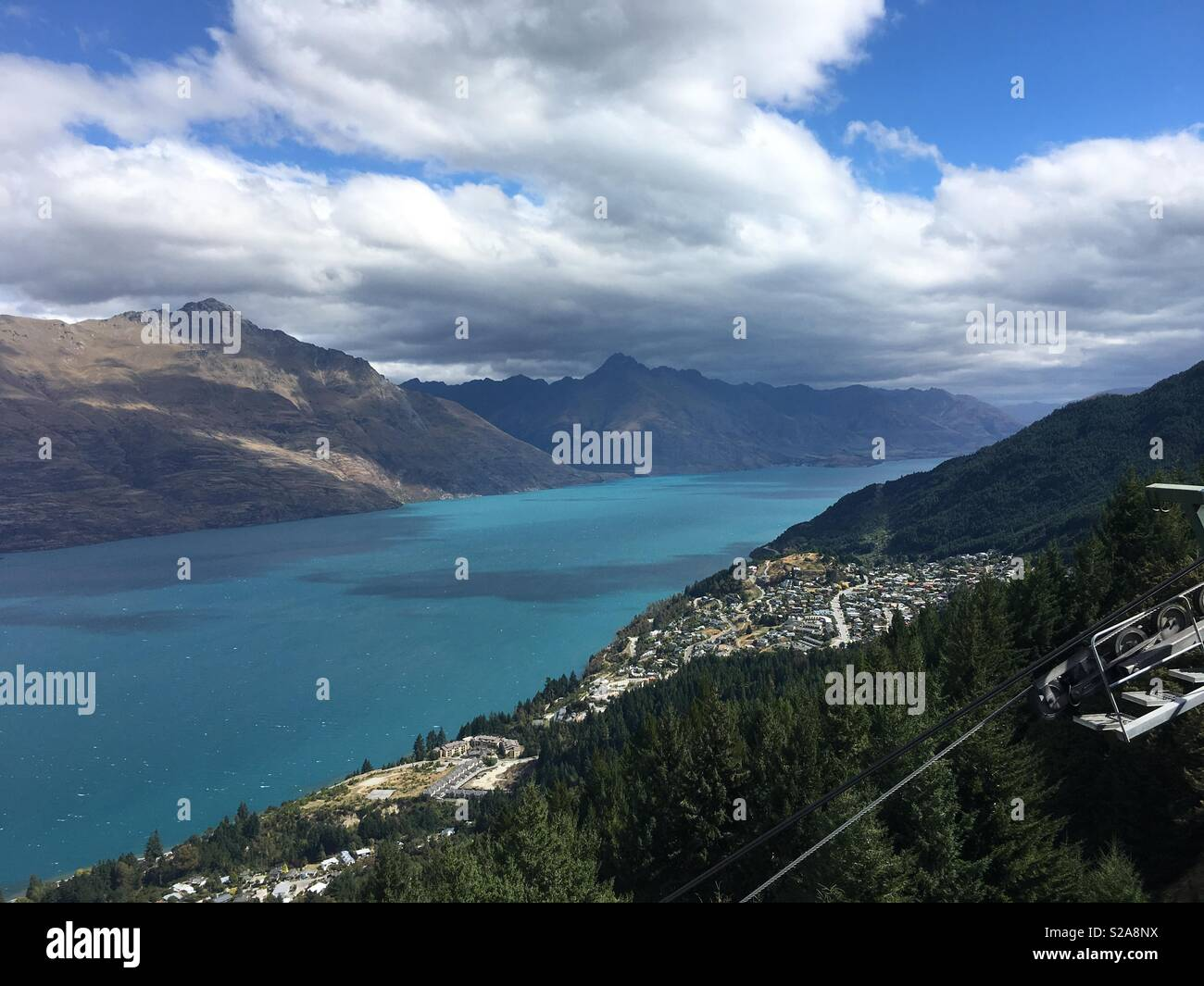 Queenstown New Zealand Cable Car - Stock Image