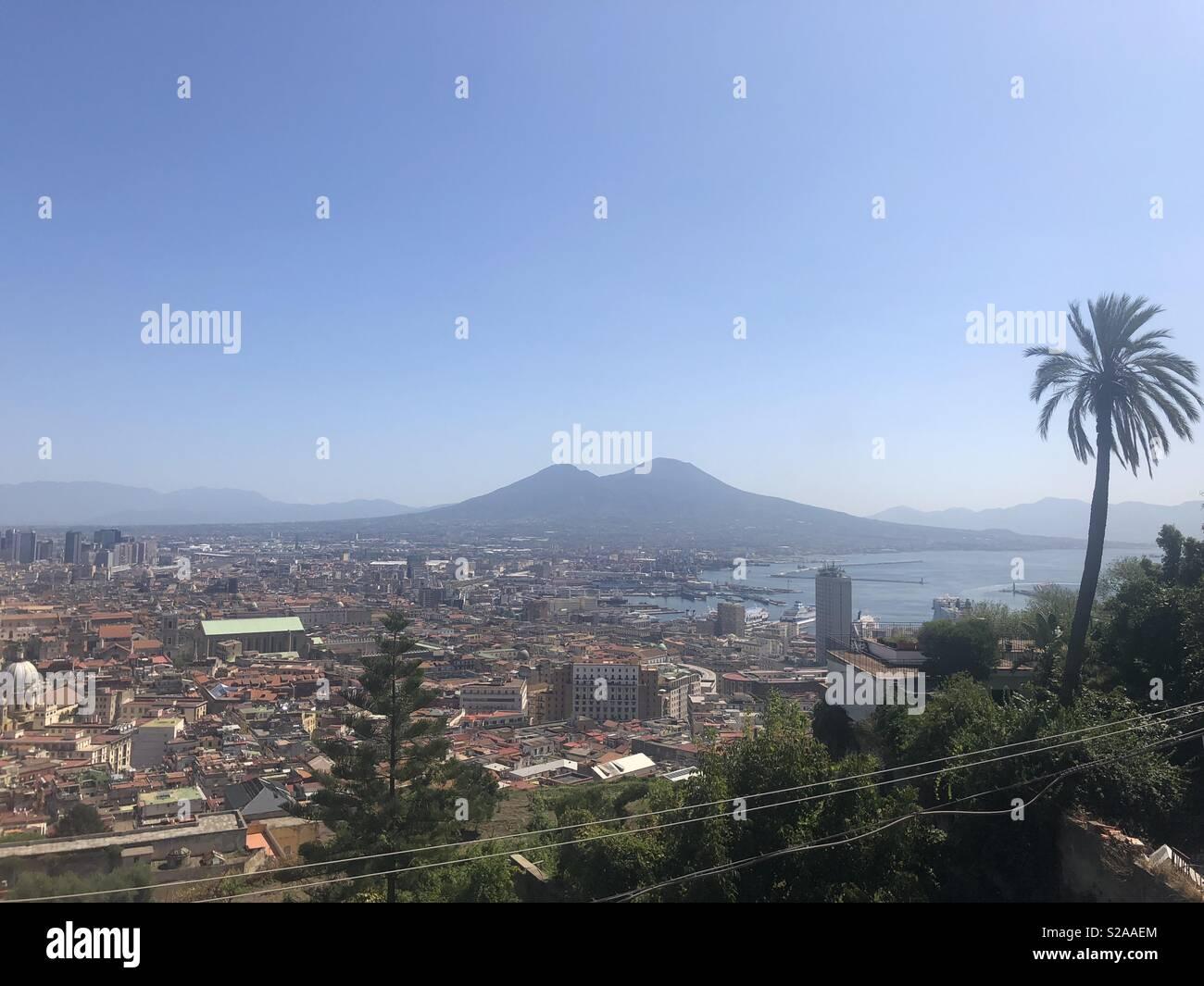 Vesuvius Naples Italy - Stock Image