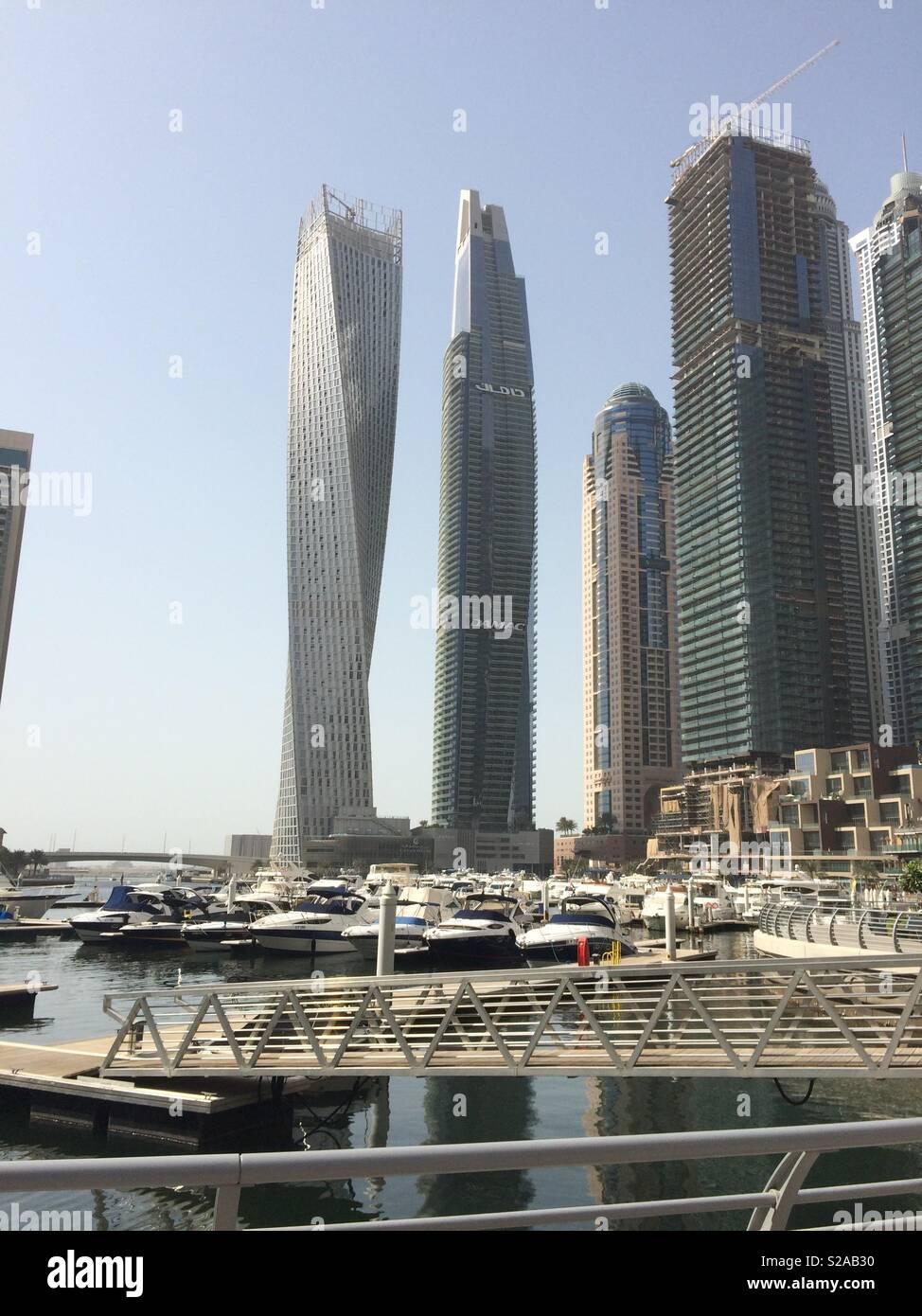 Cayan Tower at Dubai Marina - Stock Image