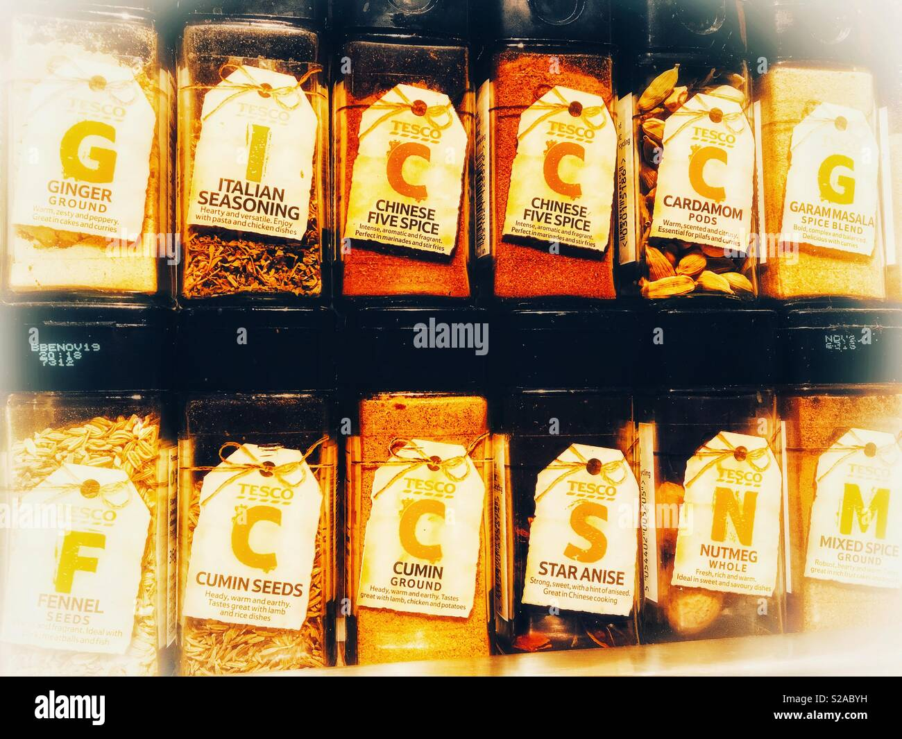 Jars Of Tesco Spices Stock Photo 311244853 Alamy