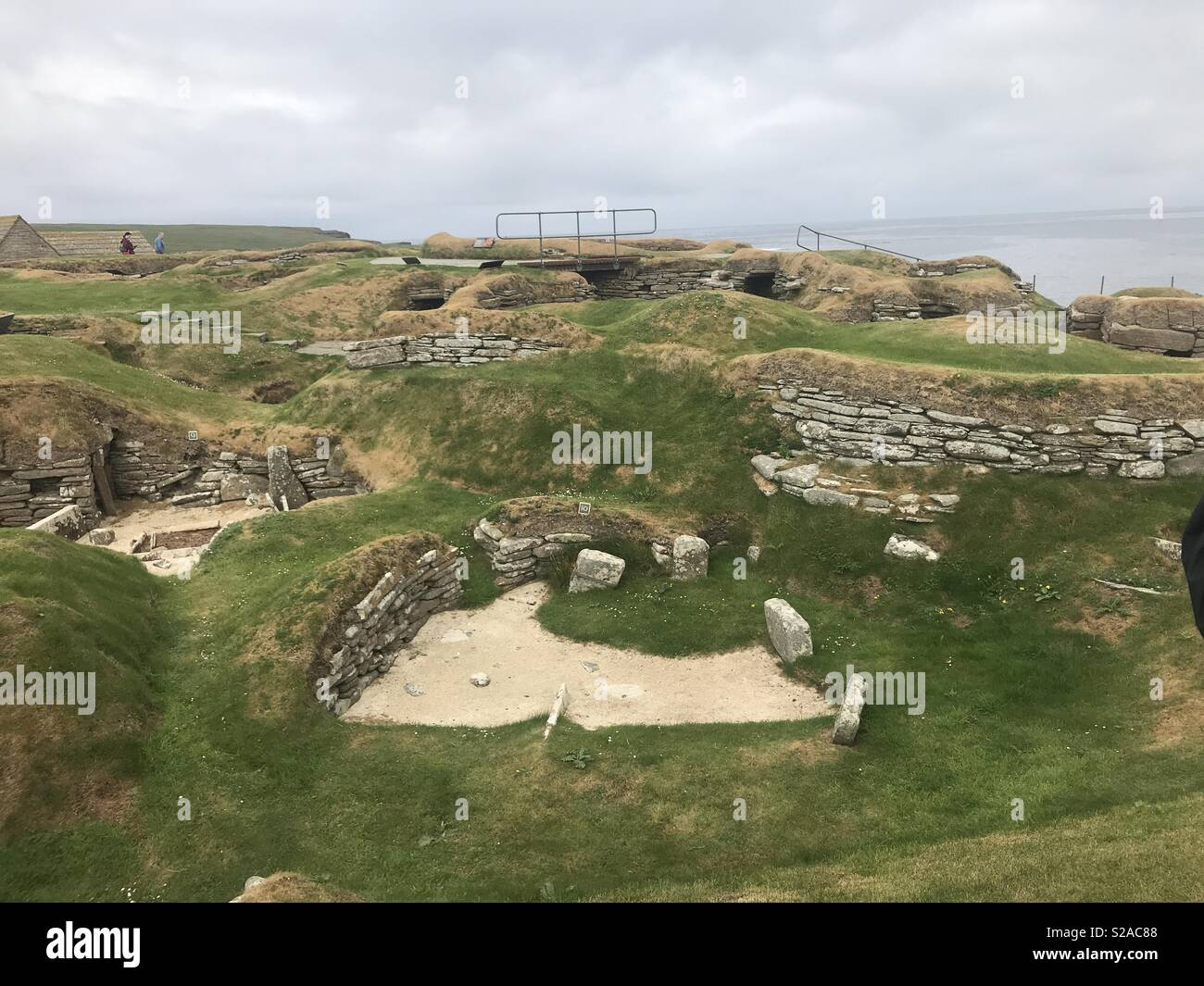 Skara Brae archaeological site in Sandwick, Orkney, Scotland - Stock Image