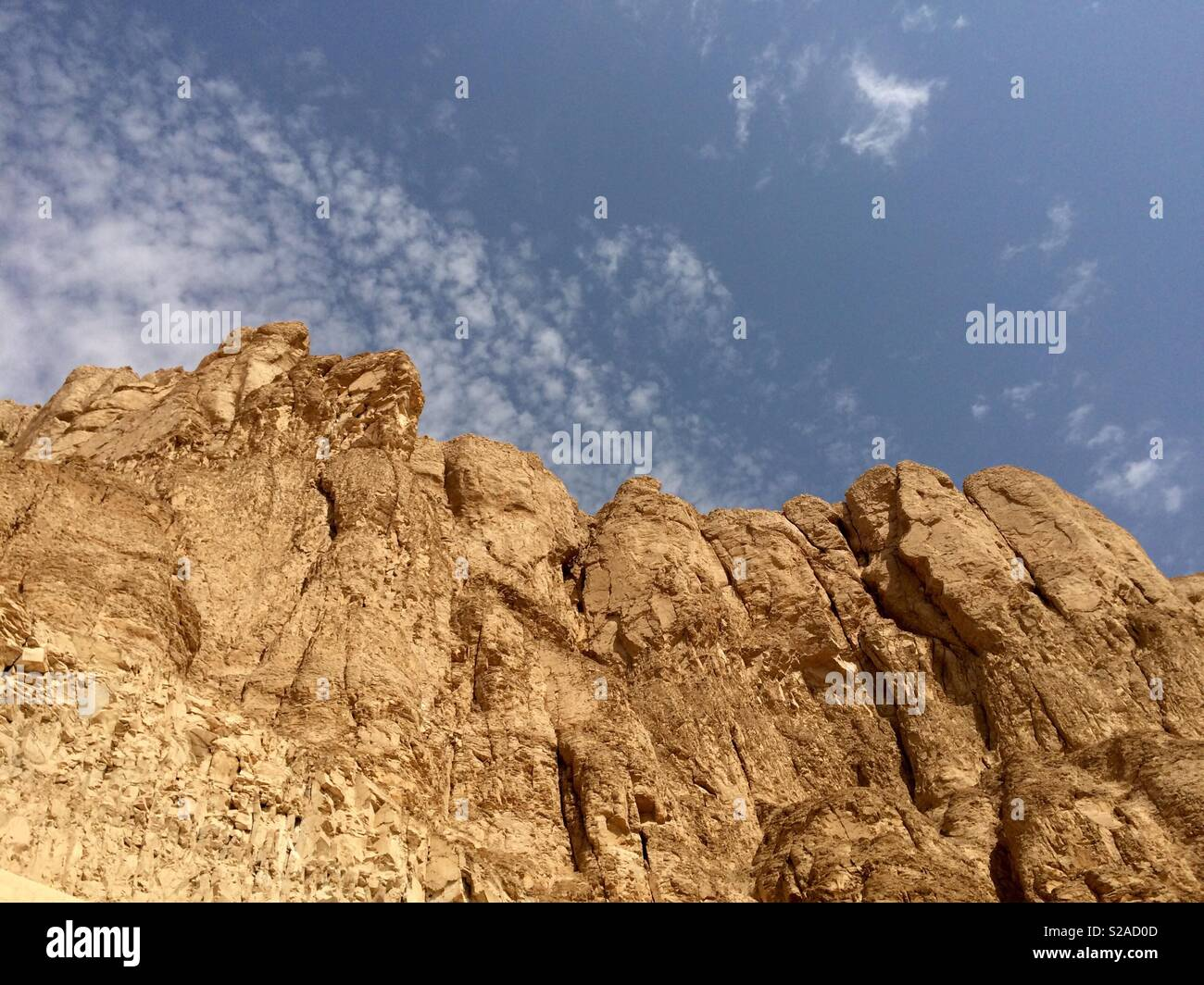 Cliffs of the Valley of the Kings - Stock Image