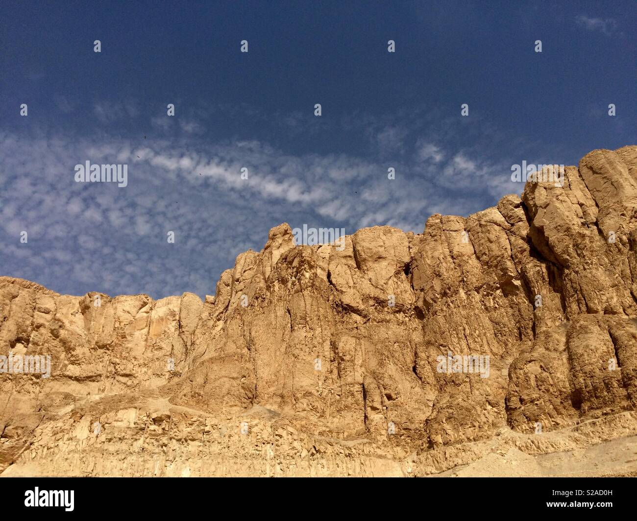 Cliffs in the Valley of the Kings - Stock Image