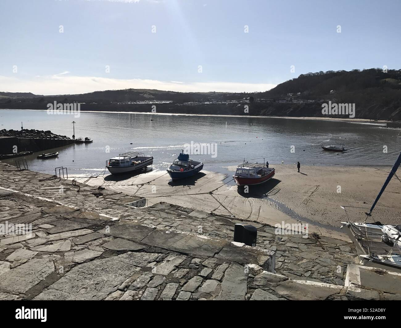 New Quay, Wales - Stock Image