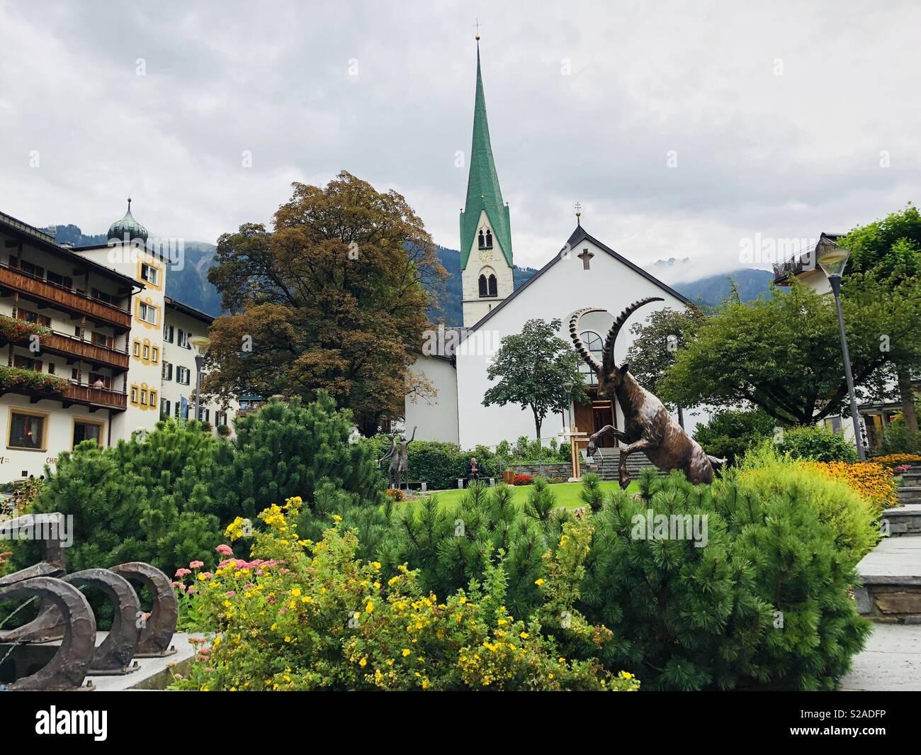 Mayrhofen Austria - Stock Image