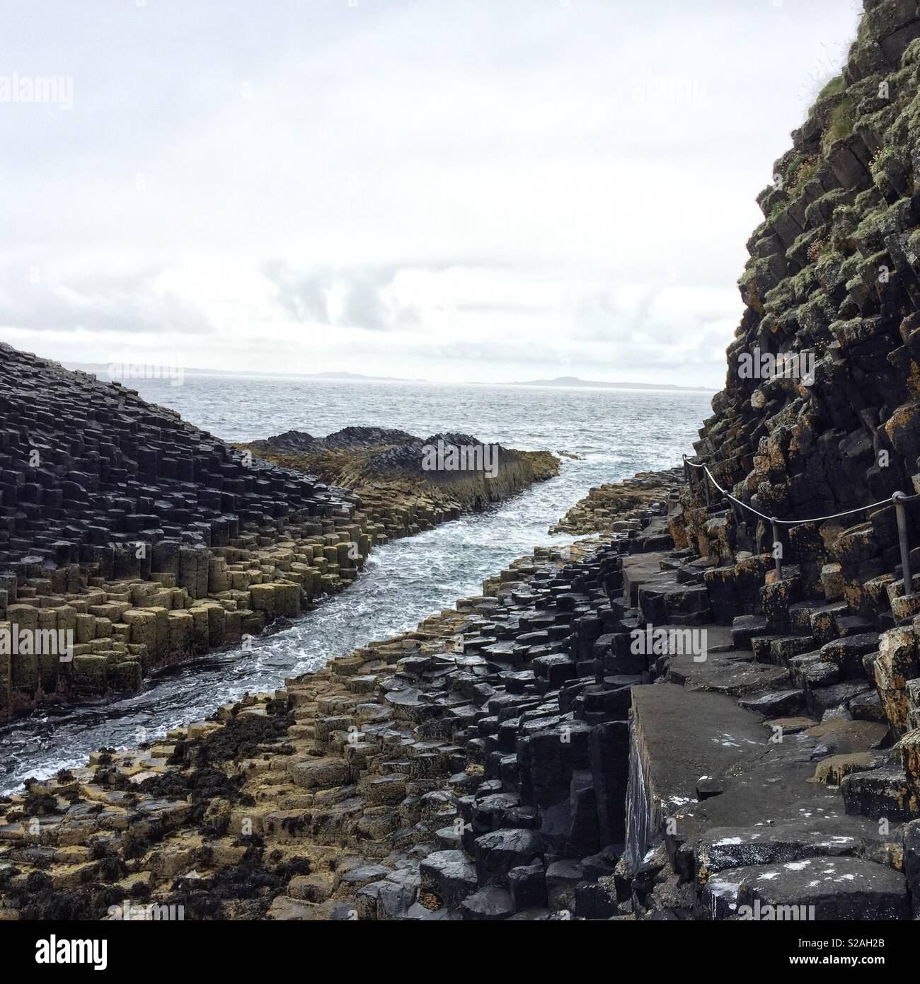 Isle of Staffa, Scotland - Stock Image