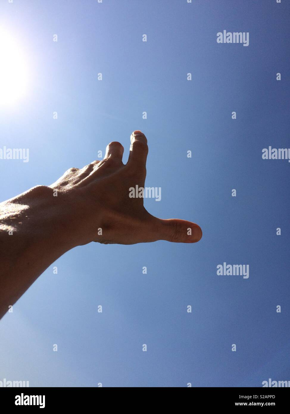 Touching the sky. - Stock Image