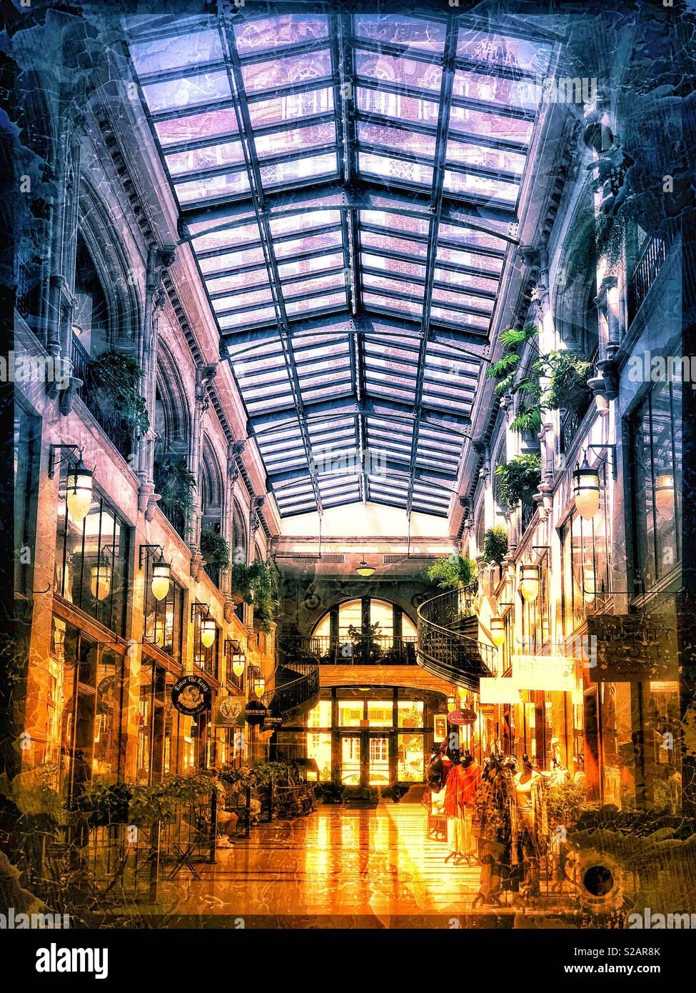 Inside mall in Asheville North Carolina - Stock Image