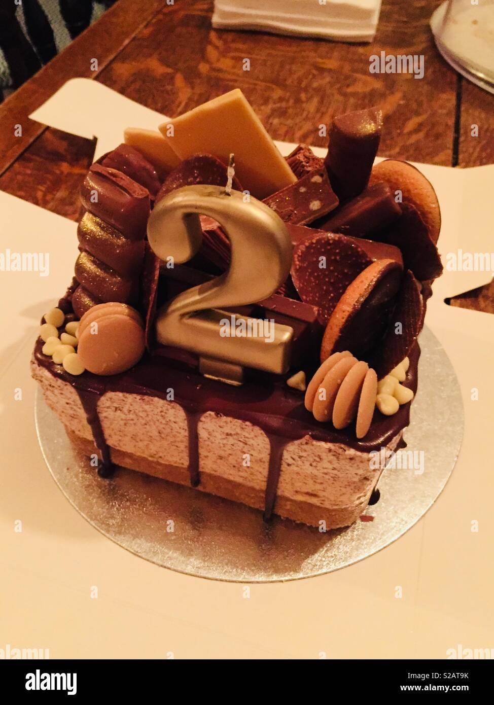 Swell 2Nd Birthday Cake Stock Photo 311254543 Alamy Funny Birthday Cards Online Elaedamsfinfo