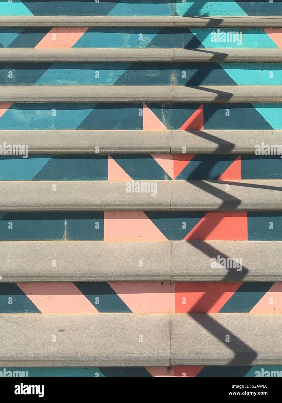 Arty stairs - Stock Image