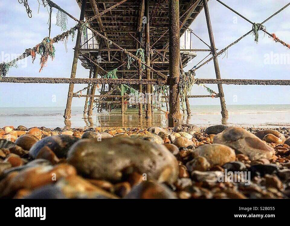 Slightly different view from Eastbourne Pier 🌊 Stock Photo